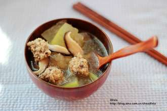 Home Cooking Recipe: Winter melon meatball soup