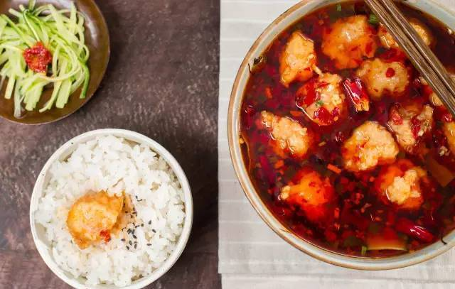 Home Cooking Recipe: With bowl of white rice, eat it.